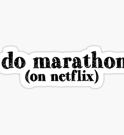 i do marathons Sticker