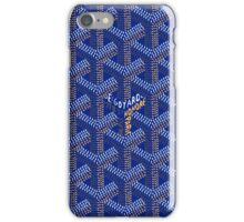 goyard blue iPhone Case/Skin