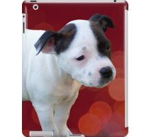Staffordshire Bull Terrier, Black And White Puppy. iPad Case/Skin