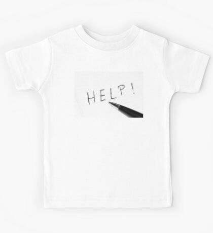 Pen Help Black White Kids Tee