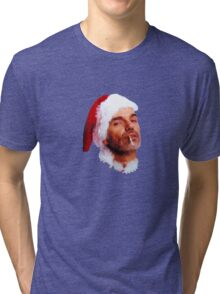 Bad Santa Smoking Tri-blend T-Shirt