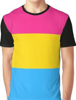 Pansexual Pride Flag Graphic T-Shirt