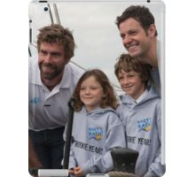 Iain Percy & Matt Baker open the Southampton boat show 2014 iPad Case/Skin