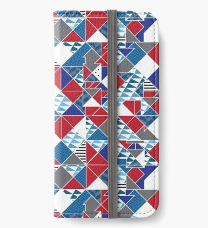 Red White Blue Patriotic iPhone Wallet