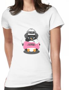 Merry Christmas Penguin Womens Fitted T-Shirt