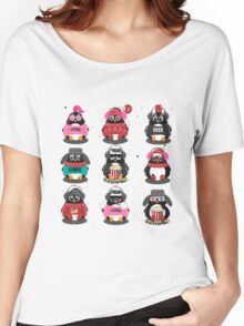 Merry Christmas Penguin Women's Relaxed Fit T-Shirt
