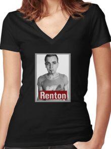 Trainspotting -Renton- Women's Fitted V-Neck T-Shirt