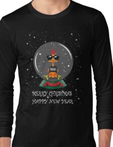 Christmas Rooster Long Sleeve T-Shirt