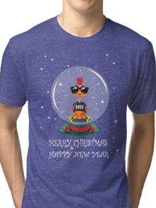Christmas Rooster Tri-blend T-Shirt