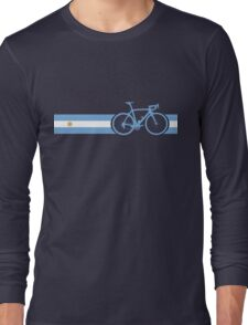 Bike Stripes Argentina Long Sleeve T-Shirt