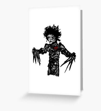 Edward Scissorheart  Greeting Card