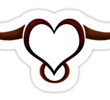 The Lovely Longhorn clothing - BROWN detail  Sticker