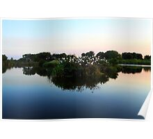 Wetlands At Sunset Poster