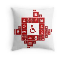 Medicine the designer Throw Pillow