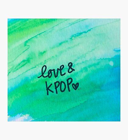 Love & KPop Photographic Print