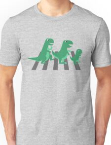 Funny T-rex family crossing Unisex T-Shirt