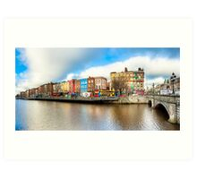 Rivery Liffey In The Heart of Old Dublin Ireland Art Print