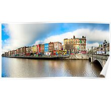 Rivery Liffey In The Heart of Old Dublin Ireland Poster
