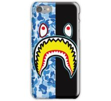 blue shark iPhone Case/Skin