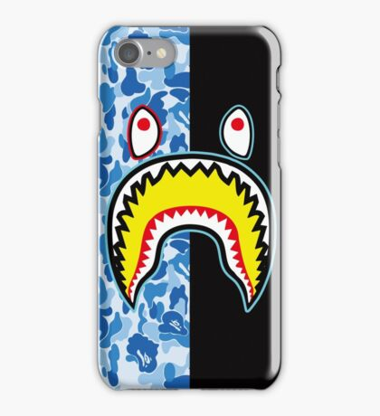 blue shark iPhone Case/Skin