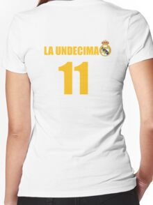 LA UNDECIMA Real Madrid Women's Fitted V-Neck T-Shirt