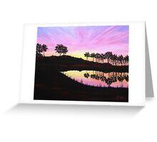 Sunset on Pond Greeting Card
