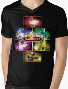 POWER RANGERS SAMURAI MORPH Mens V-Neck T-Shirt