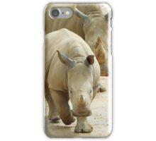 Baby rhino and mum iPhone Case/Skin