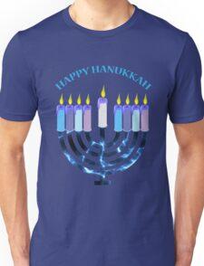 Happy Hanukkah Menorah Unisex T-Shirt