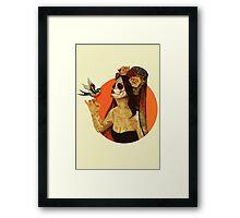 Calavera Princess Framed Print