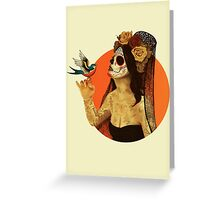 Calavera Princess Greeting Card