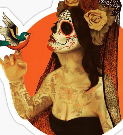 Calavera Princess Sticker