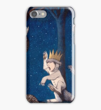 Where the Wild Things Are Wild Rumpus at night iPhone Case/Skin