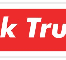 Fuck donald trump red box Sticker