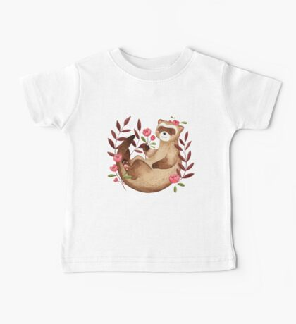 floral ferret bud Baby Tee