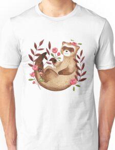floral ferret bud Unisex T-Shirt