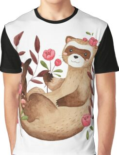 floral ferret bud Graphic T-Shirt