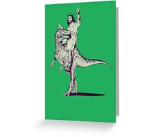 Jesus Riding Dinosaur Greeting Card