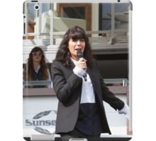 Claudia Winkleman at the Southampton Boat Show 2014 iPad Case/Skin