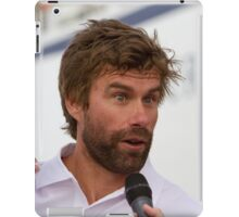 Iain Percy at the Southampton Boat Show 2014 iPad Case/Skin
