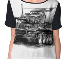 Tiger Heavy Tank Chiffon Top