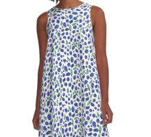 "Taste of summer ""Blueberry"" A-Line Dress"