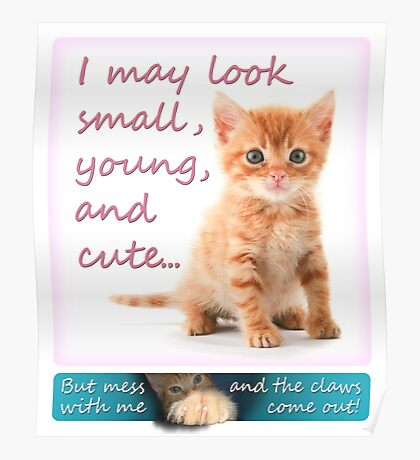 I may look small, young and cute... But mess with me and the claws come out! Poster