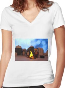 Penguins Women's Fitted V-Neck T-Shirt