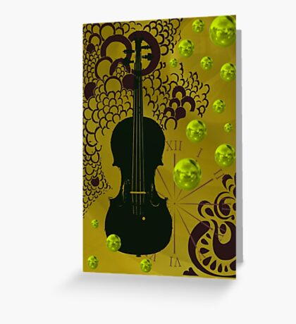 Black modernism violin Greeting Card