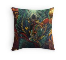 The Cycle of Rebirth Throw Pillow
