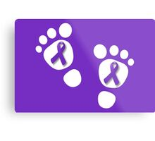 World Prematurity Day - Baby Feet Metal Print