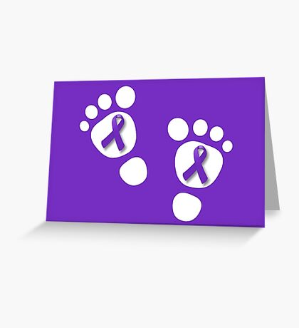 World Prematurity Day - Baby Feet Greeting Card