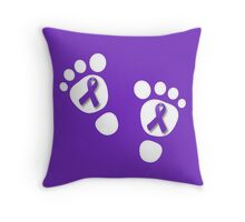 World Prematurity Day - Baby Feet Throw Pillow