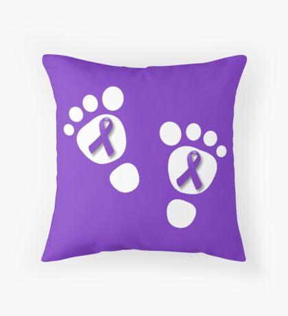 World Prematurity Day - Baby Feet Throw Pillow